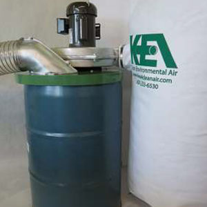 Industrial Dust Collector - Drum Mounted